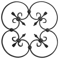 Розетка из гладкой полосы 10x5мм. Размер 380х380мм