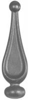 Пика литая из металла. Основание Ф24мм. Размер 88х28мм