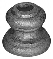 Перстень литой из металла для круга 14мм. Размер 39х45мм