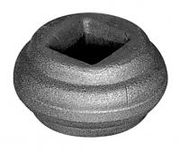 Перстень литой из металла для квадрата 12мм. Размер 22х40мм