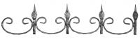 Декоративный фриз из вальцованной полосы 12х6мм. 150х1310мм