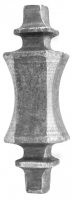 Сердцевина кованая из металла для квадрата 14мм. Размер 110х35мм