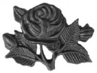 Орнамент с розой. Размер 97х130мм. Толщина металла 3мм