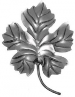 Виноградный лист. Размер 150х115мм. Толщина металла 2мм