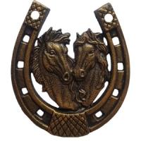 Подкова-оберег декоративная из металла. Размер 130х115мм. Лошади