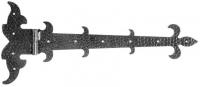 Декоративная петля для ворот, левая. Размер 225х530х4мм