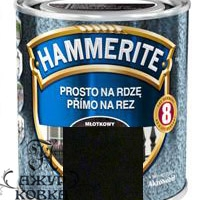 Краска Hammerite молотковая антикоррозийная, 0,7л, черная