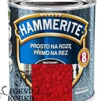 Краска Hammerite молотковая антикоррозийная, 2,5л, красная