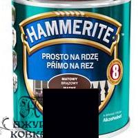 Краска Hammerite матовая антикоррозийная, 0,7л, черная