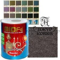Краска Miofe с металл. крошкой, 0,75л, 704 бронзовая