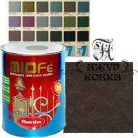 Краска Miofe с металл. крошкой, 0,75л, 782 шоколадная