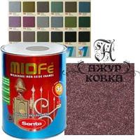 Краска Miofe с металл. крошкой, 0,75л, 715 бордовая