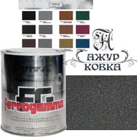 Краска Vik Ferrogamma с метал. крошкой, 0,75л, 1771 антрацит