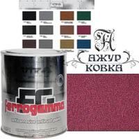 Краска Vik Ferrogamma с метал. крошкой, 0,75л, 1720 бордо