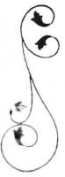 Стойка прямая из вальцованной полосы 12х6мм. 800х290мм