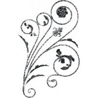 Розетка из круга (коры) 12мм. Размер 1080х600мм