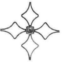 Розетка из гладкой полосы 12х6мм. Размер 350х350мм