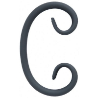 "Завиток ""С"" из гладкого круга 10мм. Размер 125х75мм"