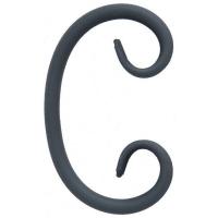 "Завиток ""С"" из гладкого круга 10мм. Размер 135х80мм"