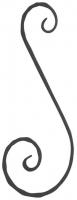 "Завиток ""S"" из вальцованной полосы 12х6мм. 160х70мм"