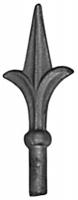 Пика литая из металла. Основание Ф13мм. Размер 130х53мм