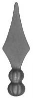 Пика литая из металла. Основание Ф20мм. Размер 98х33мм