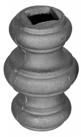 Перстень литой из металла для квадрата 12мм. Размер 67х40мм