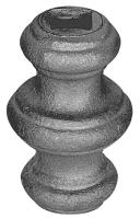 Перстень литой из металла для квадрата 14мм. Размер 67х45мм