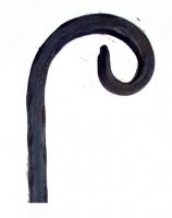 Завиток декоративный из вальцованной полосы 12х6. 90х70мм