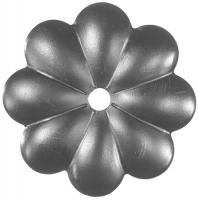 Железный цветок. Размер 90мм. Толщина металла 3мм
