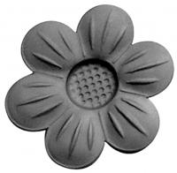 Железный цветок. Размер 60мм. Толщина металла 1,5мм