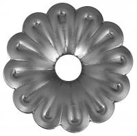 Железный цветок. Размер 68мм. Толщина металла 1,2мм
