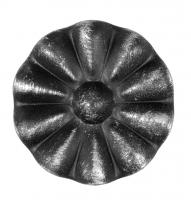 Железный цветок. Размер 95мм. Толщина металла 1,2мм