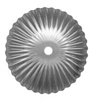 Железный цветок. Размер 115мм. Толщина металла 1мм