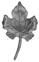 Литой виноградный лист. Размер 125х75мм. Толщина металла 4мм