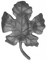 Литой виноградный лист. Размер 155х110мм, Толщина металла 4мм