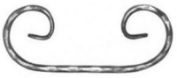 Завиток С из вальцованной полосы 12х6мм. 420х225мм