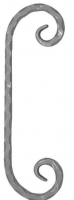 Завиток из вальцованного квадрата 12мм. 375х115мм