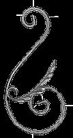 Завиток из вальцованной полосы 12х6мм. 425х225мм