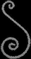 Завиток из вальцованной полосы 12х6мм. 430х220мм