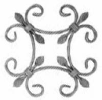Розетка из вальцованной полосы 12x6мм. 270х270мм