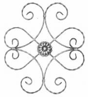 Розетка из вальцованной полосы 12x6мм. 570х500мм