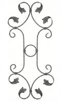 Розетка из вальцованной полосы 12x6мм. 790х370мм