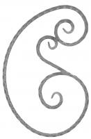 Розетка из вальцованного квадрата 12мм. 550х360мм