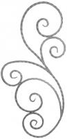 Розетка из вальцованного квадрата 12мм. 1000х485мм
