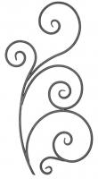 Розетка из круга (коры) 12мм. Размер 950х490мм