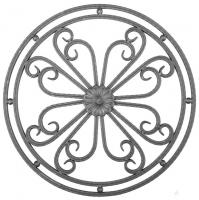 Розетка из вальцованного квадрата 12мм. 600х600мм