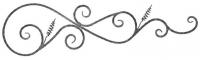 Розетка из вальцованного квадрата 12мм. 350х1260мм