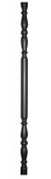 Столб декоративный из трубы Ф51х1,5мм, гладкая поверхность