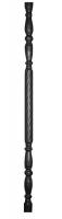 Столб декоративный из трубы Ф51х1,5мм, со спиральным рельефом